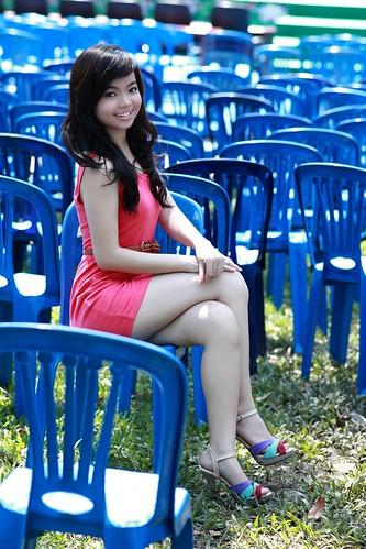 [フリー画像素材] 人物, 女性 - アジア, 女性 - 座る ID:201211110800