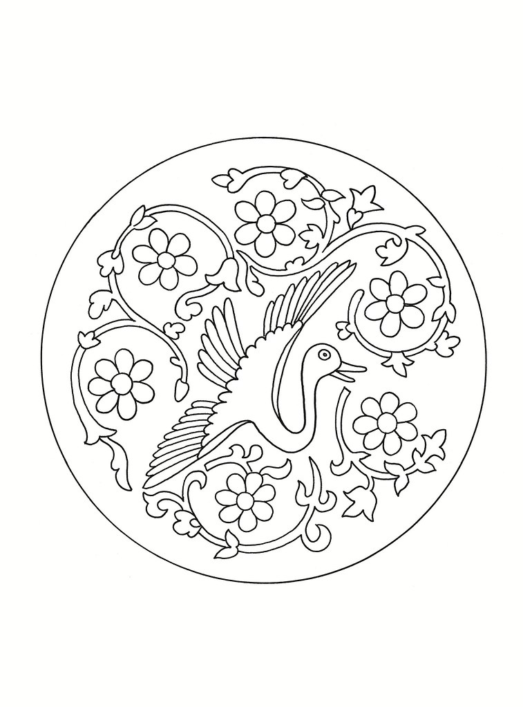 East Asian Designs - bird roundel a
