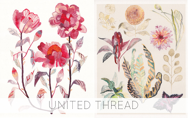handmade things I'm loving right now (Tree Peony and Botanicals No.2 by United Thread) | Emma Lamb