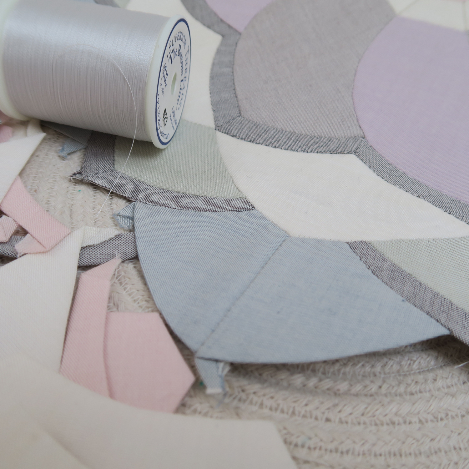 English paper piecing with Oakshott Scandinavia