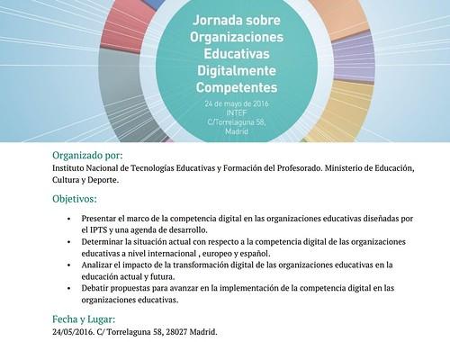 #DigCompOrg Jornada sobre Organizaciones Educativas Digitalmente Competentes
