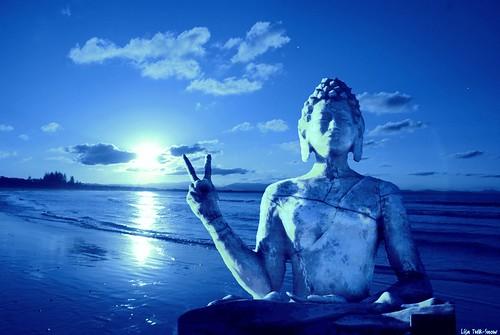 Blue Peace Buddha by isisdownunder1