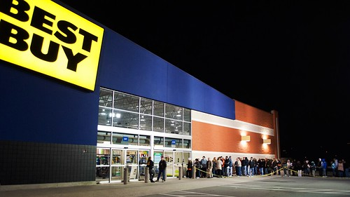 #BlackFriday at Best Buy, 12:05am