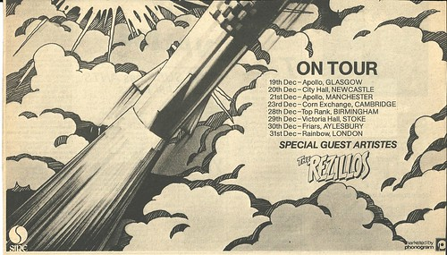 December 1978 Ramones Rocket To Russia Tour Ad (Bottom)