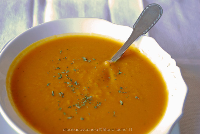 Pumpkin sweet potato soup