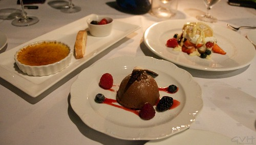 Trio of desserts from The CanoeHouse