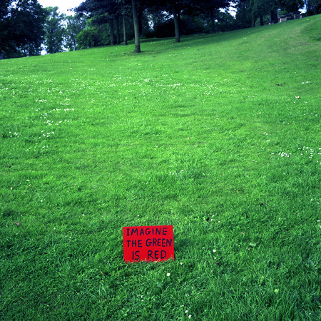 David Shrigley, Imagine the Green is Red, 1997]