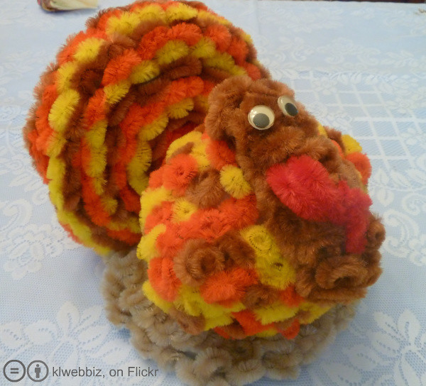 Pipe cleaner crafts turkey flickr photo sharing for Pipe cleaner turkey craft