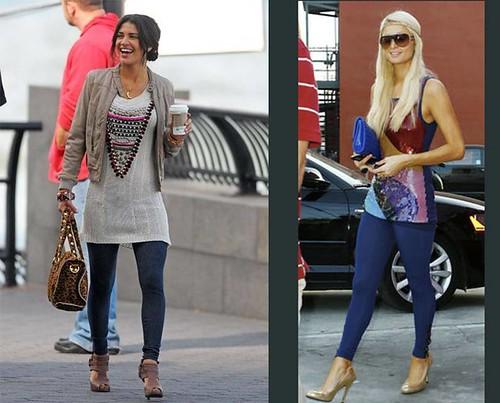 Jessica-Szohr-Paris-Hilton-leggings-clasicos