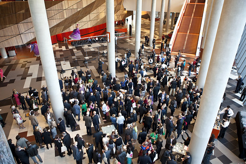 World Summit delegates gather before the official Opening Ceremony