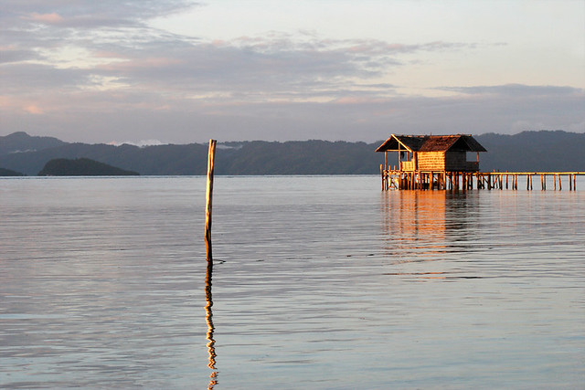 Sunset in Raja Ampat, West Papua.