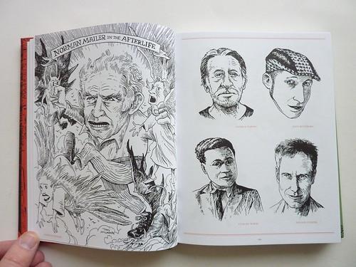 500 Portraits by Tony Millionaire - pages (Norman Mailer et al.)