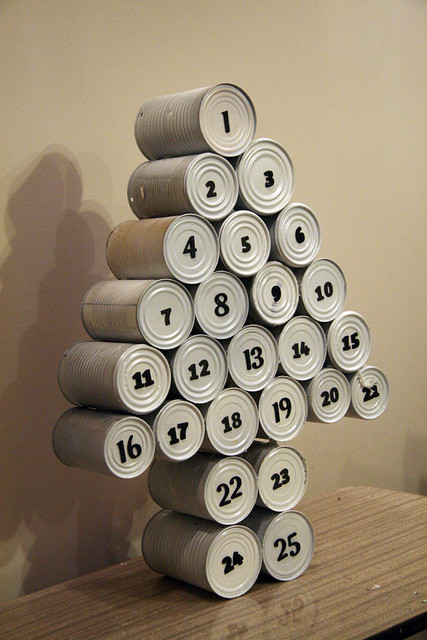 Canned Tree Advent Calendar