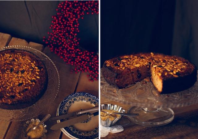 pastel de manzana especiado de navidad