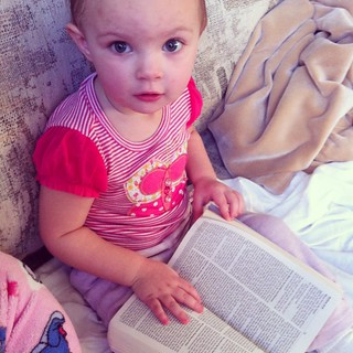 Bible reading by Eryn