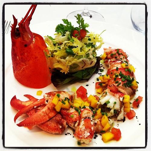 Amanida de llamàntol. El Hogar Gallego (Calella, Maresme). Plat de Toni Gordillo. Desembre de 2011 #cuina #gastronomia #elhogargallego #tonigordillo #calella #maresme #cocina #mediterrania #restaurante #restaurant