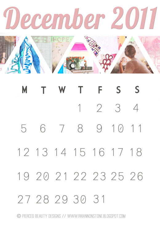 Dec 2012 calendar - Free to download