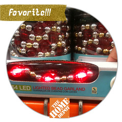 fav. item Christmas lighted bead garland
