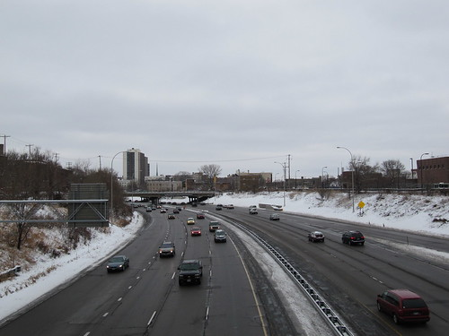 Eastbound I-94 from 3rd Ave facing West