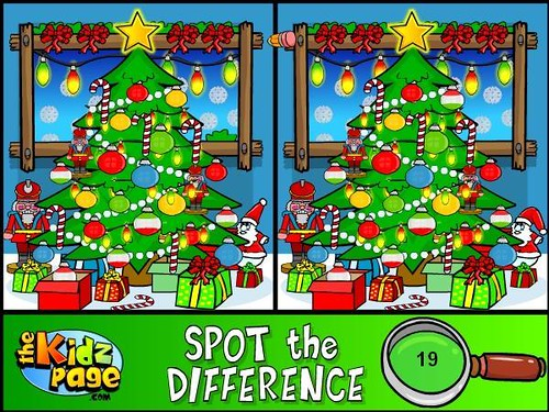 Christmas Spot the Difference