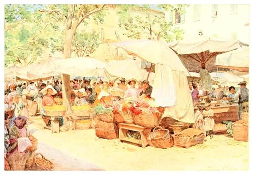 018- Un mercado en Niza-An artist in the Riviera (1915)-Walter Tyndale