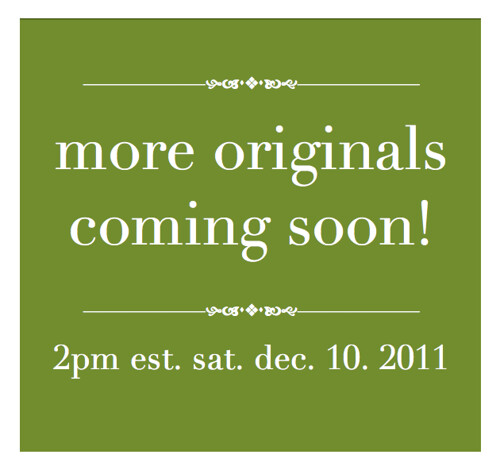 Last minute Holiday Sale : Small originals!