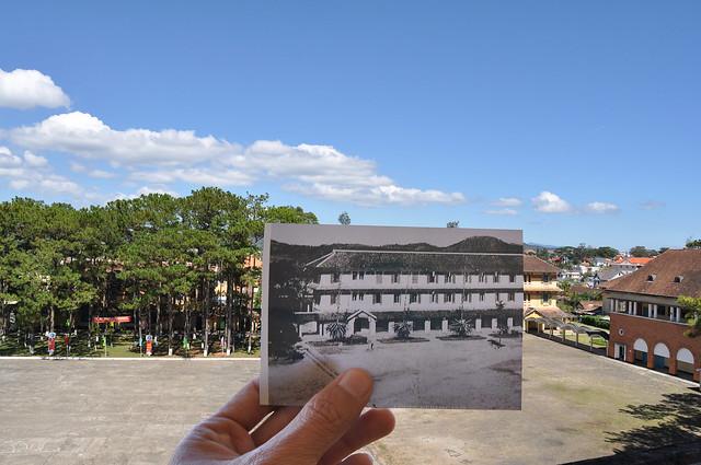 Sân trường Cao đẳng Sư phạm Đà Lạt năm 1948