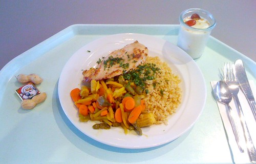 Hühnerbrust mit Currygemüse / Chicken breast with curry vegs