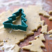 Christmas tree cookies with lavender