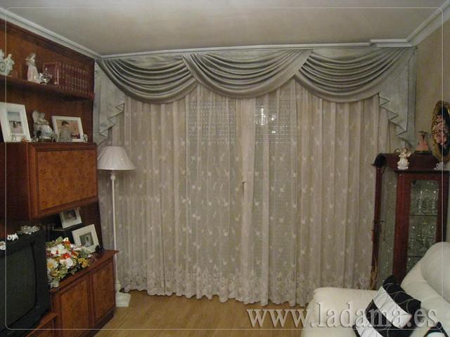 Decoraci n para salones cl sicos cortinas con dobles - Cortinas para salones pequenos ...