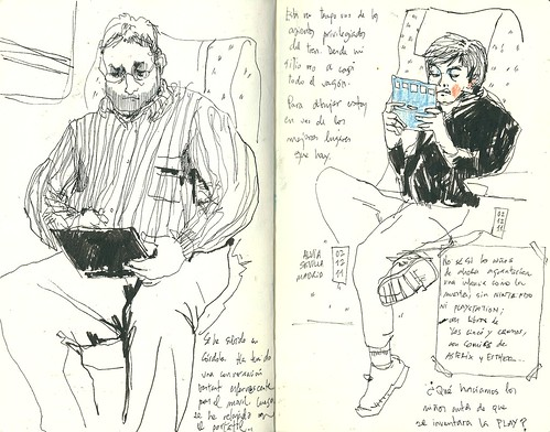Gente en el tren