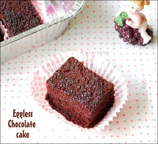 Images Of Eggless Chocolate Cake : Eggless chocolate cake recipe   Moist and soft Rak s Kitchen