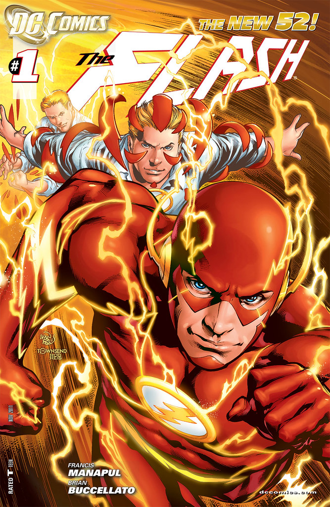 Flash 3 2012 variant cover by Ivan Reis