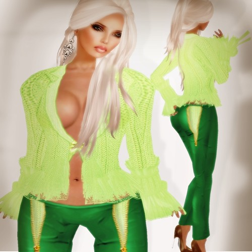 A&A Fashion Roma Sweater Green