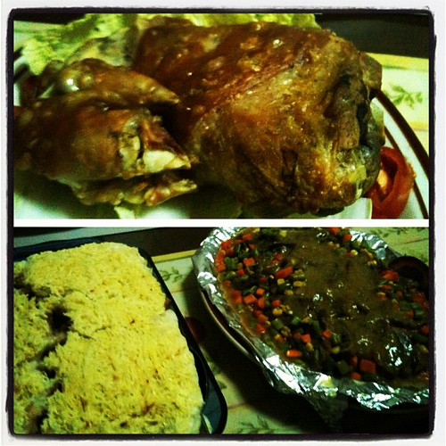 For Dinner Last Night- Crispy Pata, Baked Mac, Beef Roast Slices & Buco Pandan