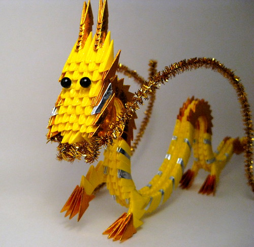 Paper Zodiac 1 Photos | Yellow Gold Dragon #2 | 039