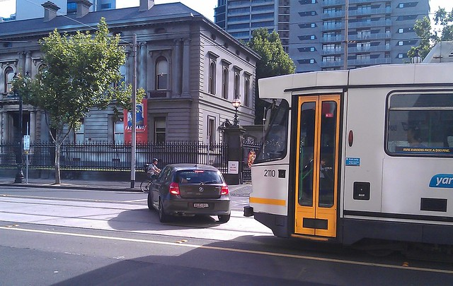 Who enforces tram lanes?