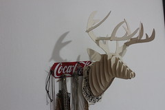 art, antler, deer, white, sculpture, reindeer,