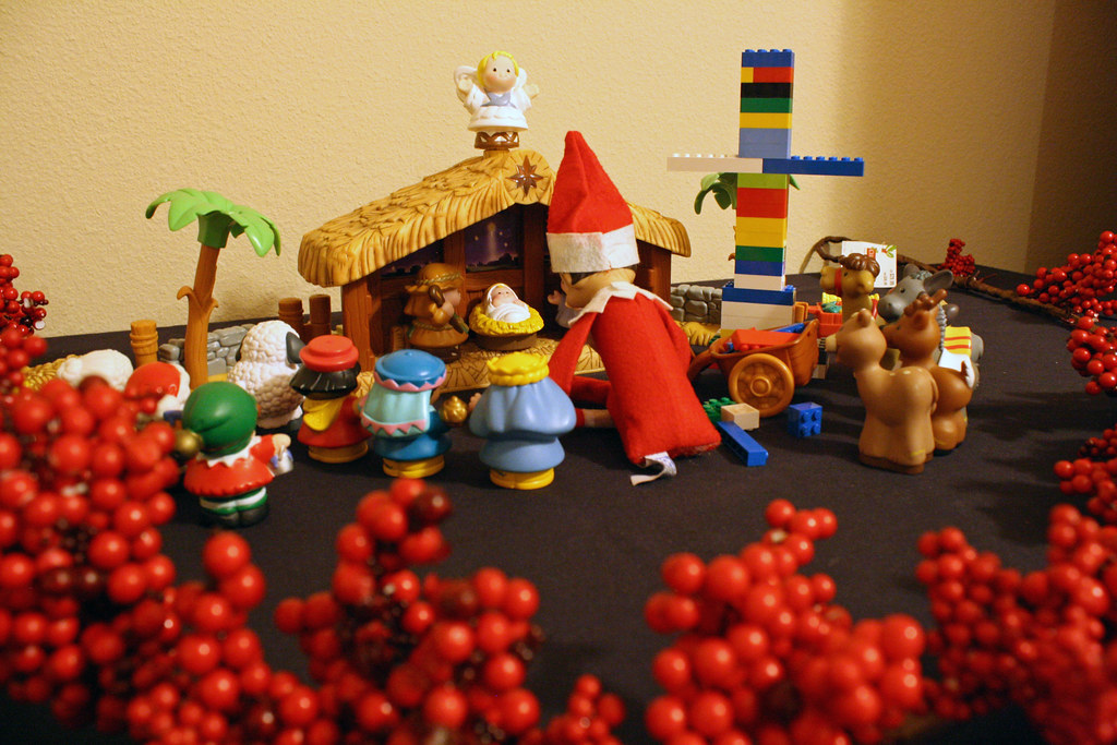Nativity Elf on the Shelf. Click for more ideas! #elfontheshelf