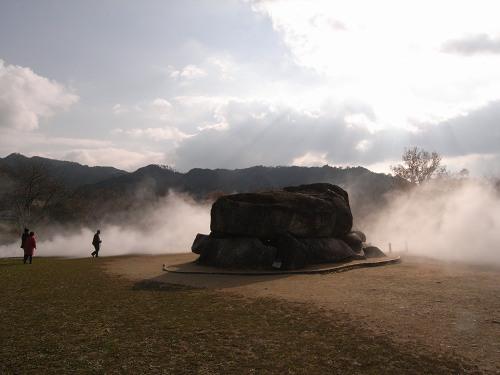 霧の石舞台古墳『飛鳥アートプロジェクト』@明日香村