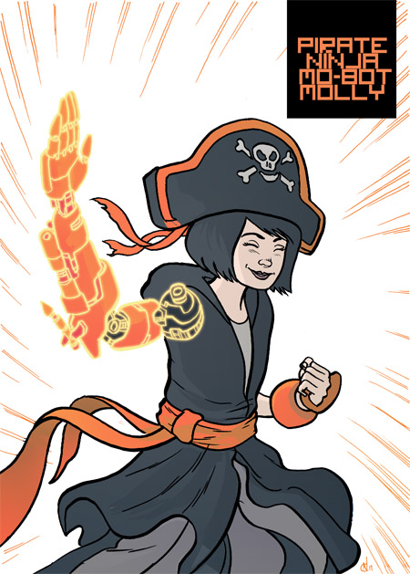 Pirate Ninja Mo-bot Molly