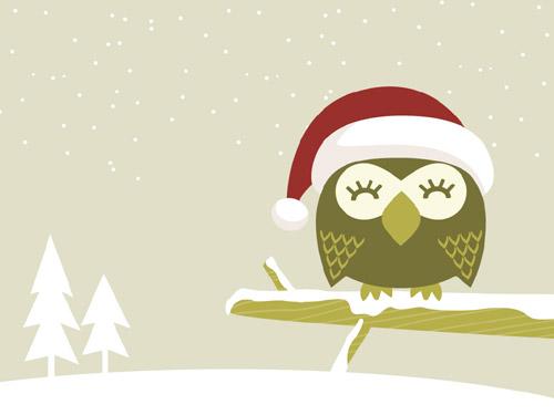 Christmas Owl.My Owl Barn Christmas Owl Desktop Wallpaper