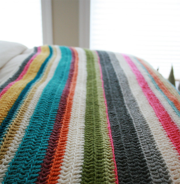 Random colour afghan