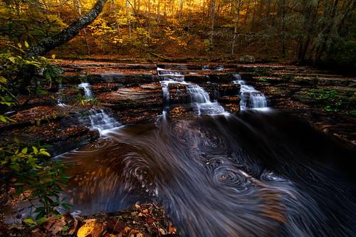 autumn swirls campcreek campcreekstatepark campbellfalls westvirginiawaterfalls