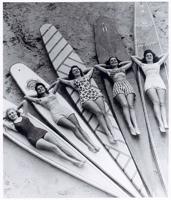 Surf sirens, Manly beach, New South Wales, 1938-46