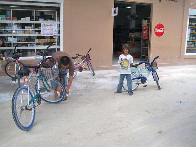 family activity bike rental caye caulker belize