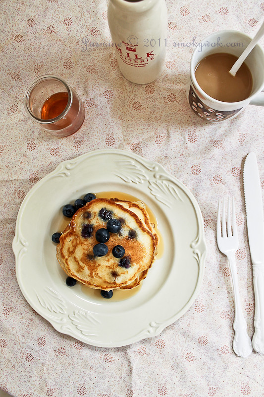 Blueberry Pancakes for Breakfast...
