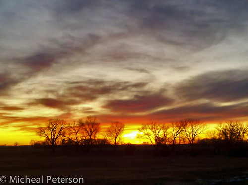 Nebraska Sunset using Droid X CameraZOOM App