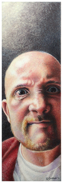 Colored pencil portrait entitled Surly