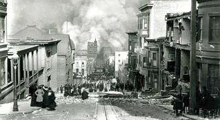 Sacramento Street tras el gran terremoto (San Francisco, 1906)